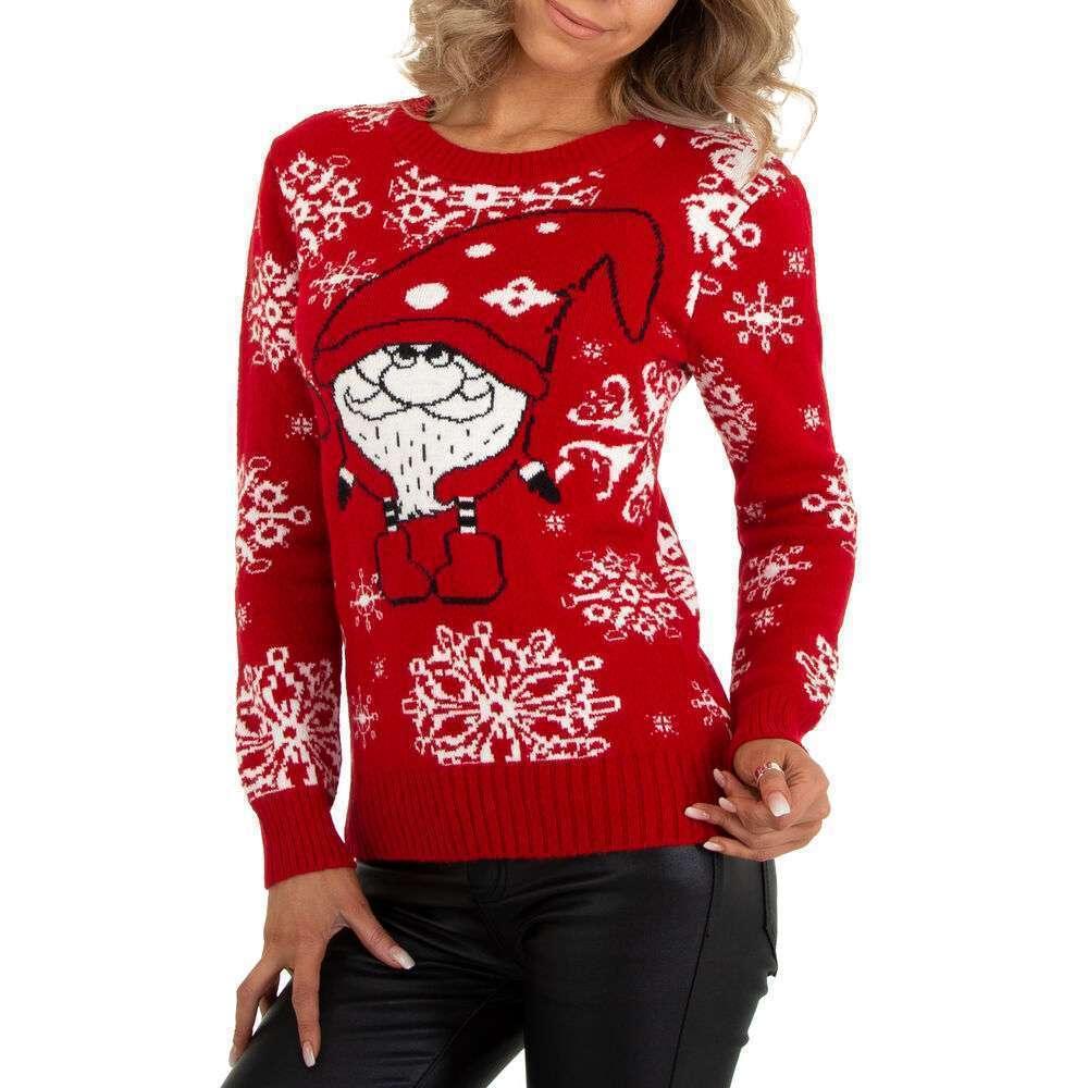 Pulover tricotat pentru damă marca METROFIVE - rosu