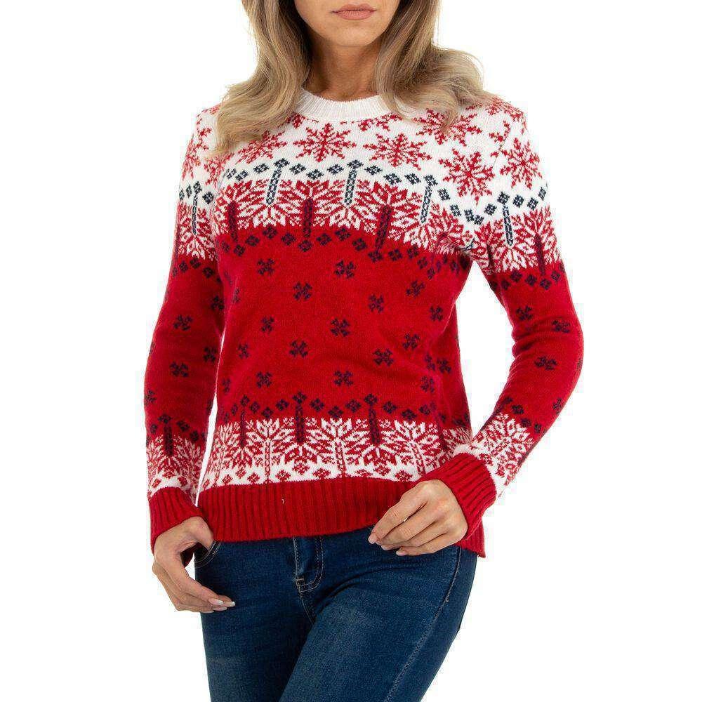 Pulover tricotat pentru dame marca Metrofive - red