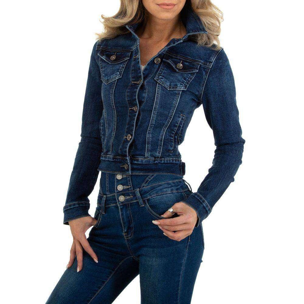 Jachete din denim pentru dame marca MISS CURRY - albastru