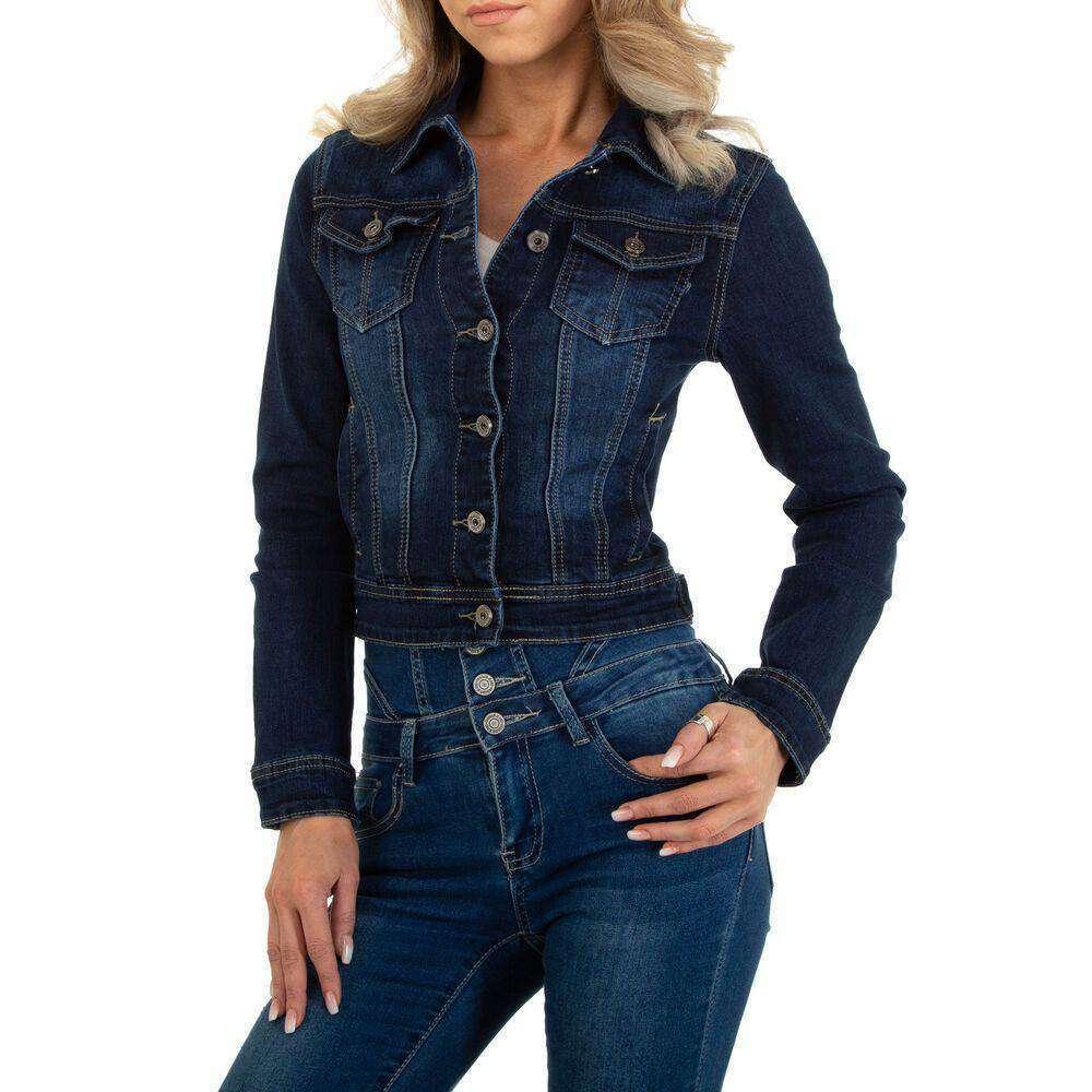 Jachete din denim pentru dame marca M.SARA - albastru