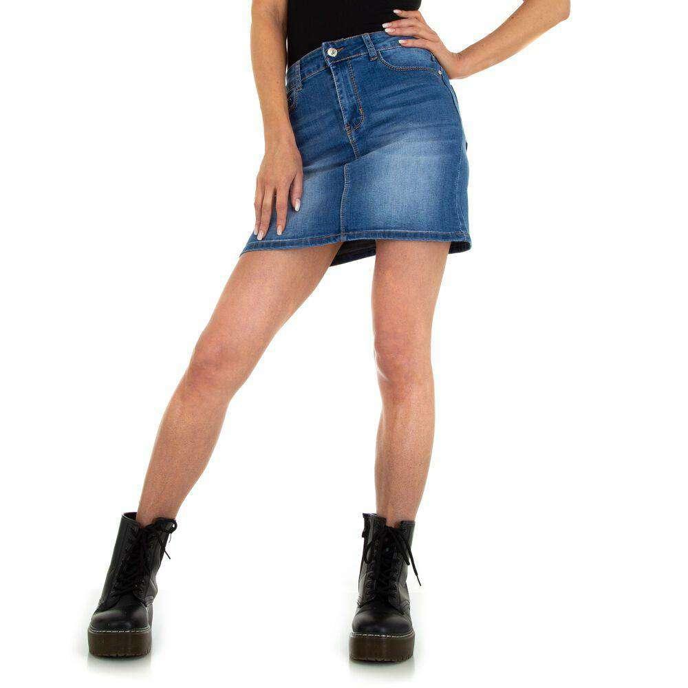 Fuste mini pentru dame marca M.SARA - albastru