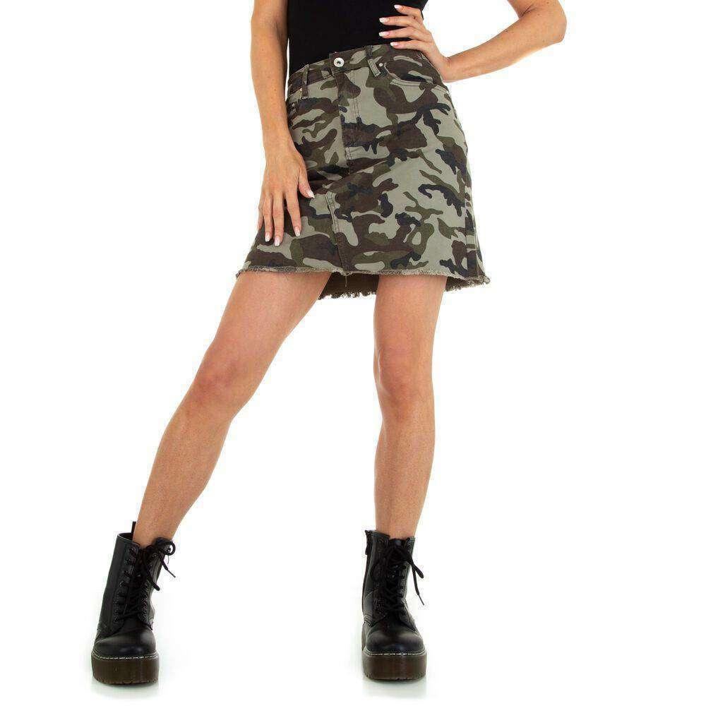 Fuste mini pentru dame marca M.SARA - armyverde