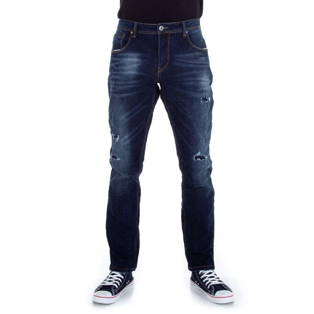 Jeans bărbat  marca Gress - albastru inchis