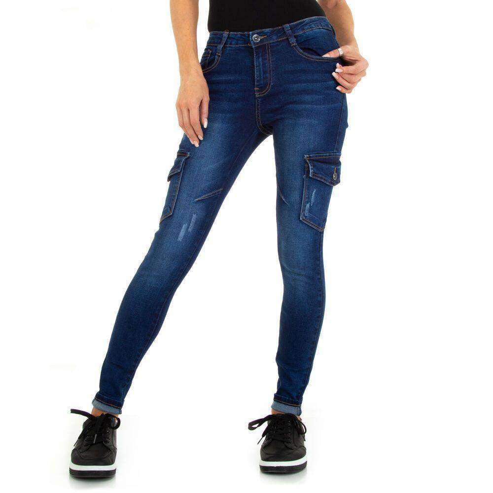 Blugi Skinny pentru dame marca M.SARA - albastru