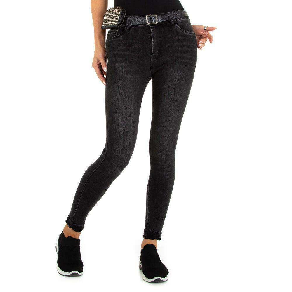 Blugi Skinny pentru dame marca M.SARA - negru