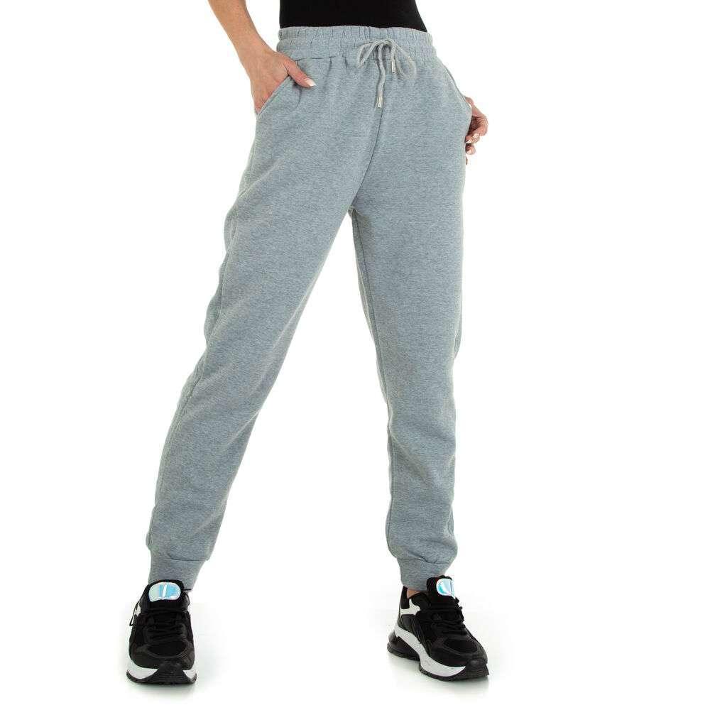 Pantaloni boyfriend pentru femei marca Holala - gri