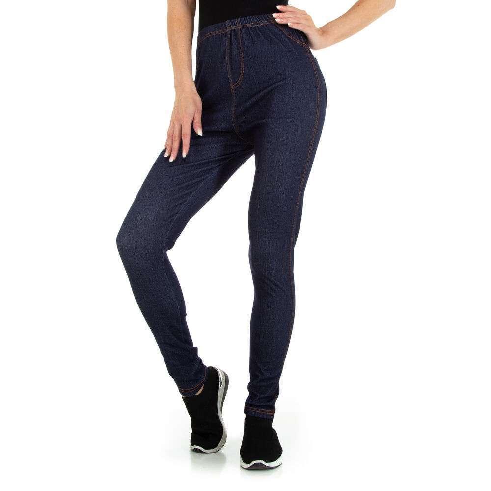 Jambiere cu aspect de jeans pentru dame marca Holala - albastru