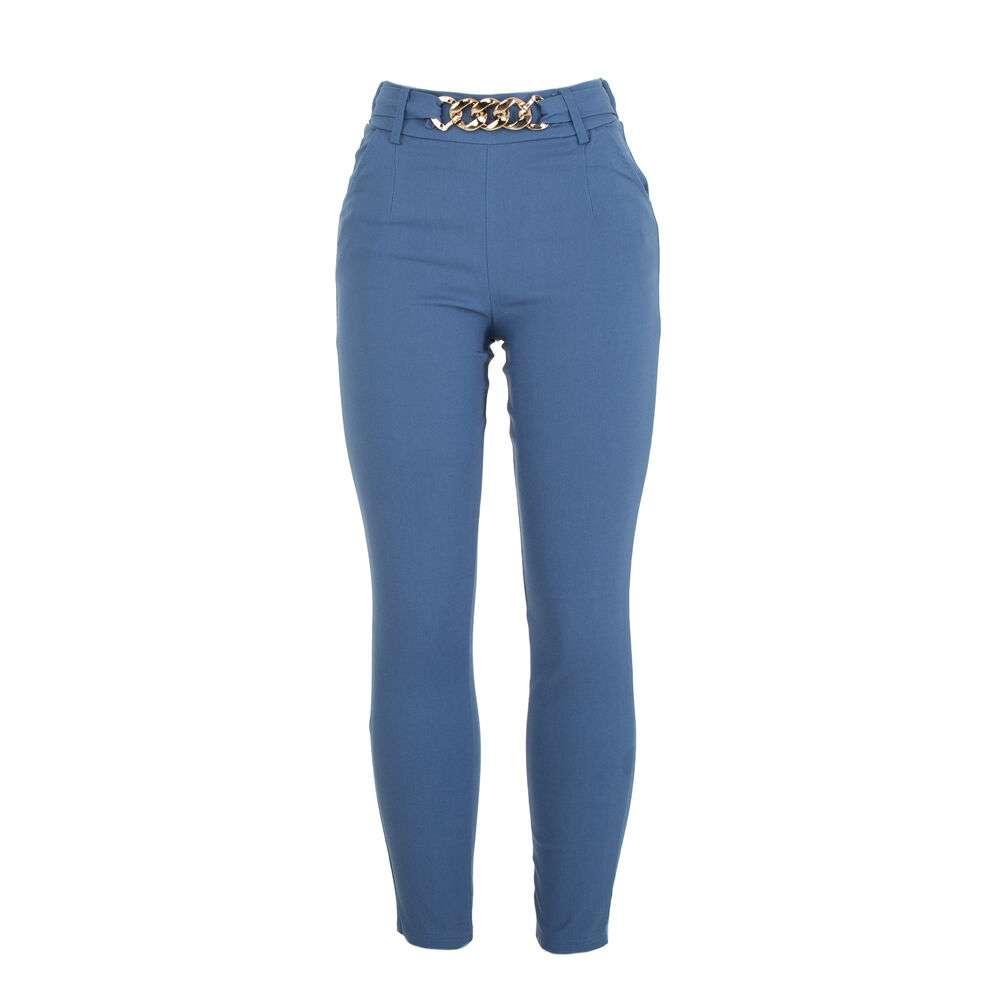 Pantaloni din stofă pentru dame marca Holala - albastru