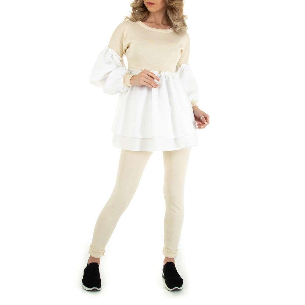 Costum din două piese marca Emma Ashley - cream