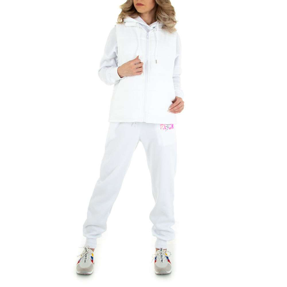 Costum de jogging și agrement pentru femei marca Emma Ashley - alb