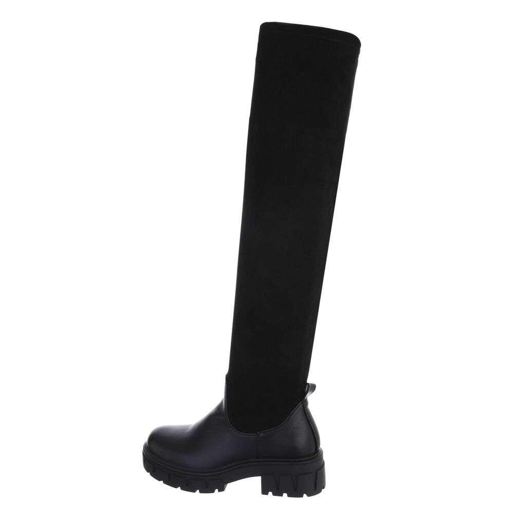 Cizme peste genunchi pentru damă - negru