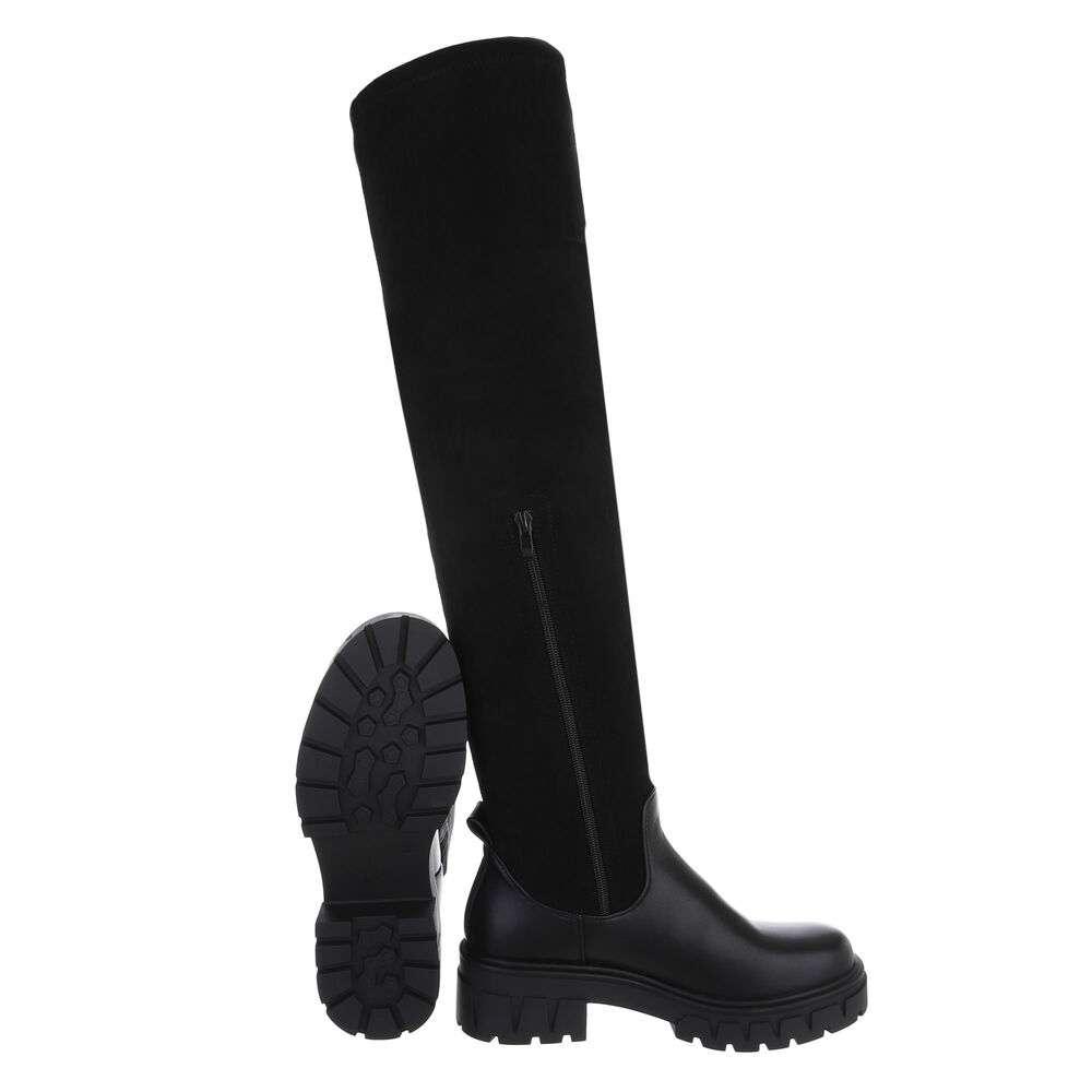 Cizme peste genunchi pentru damă - negru - image 2