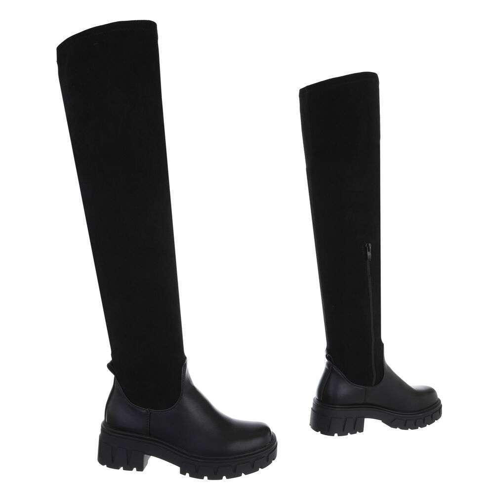 Cizme peste genunchi pentru damă - negru - image 3
