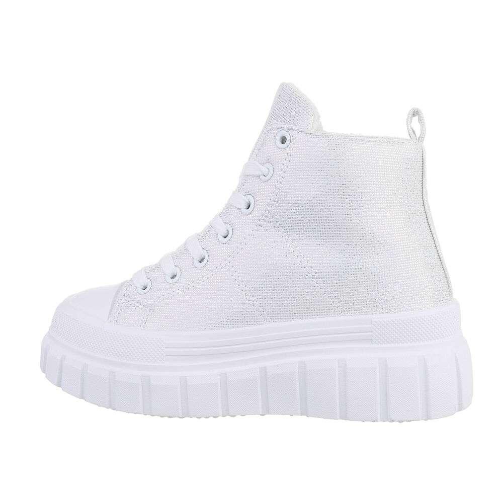 Pantofi sport înalți pentru dame - silver