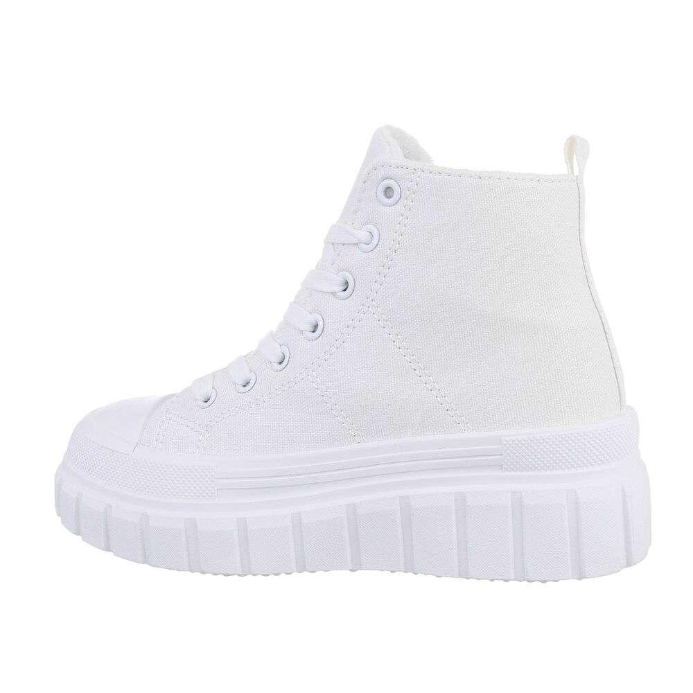 Pantofi sport înalți pentru dame - white