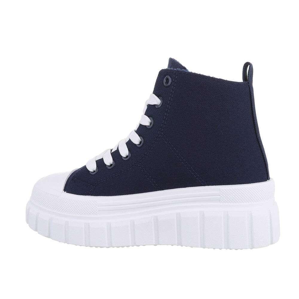Pantofi sport înalți pentru dame - blue