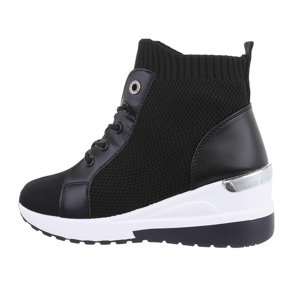 Pantofi sport înalți pentru dame - black
