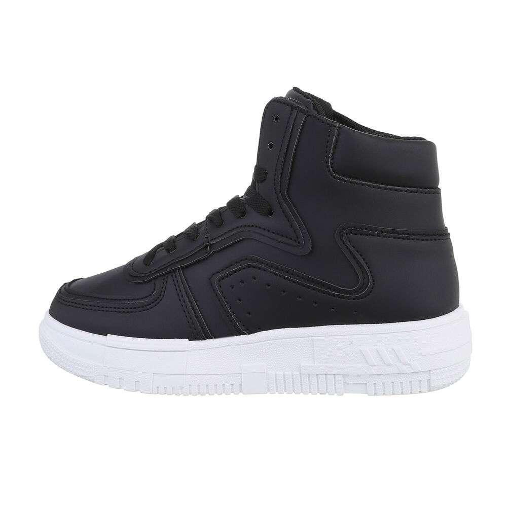 Pantofi sport înalți pentru femei - negre
